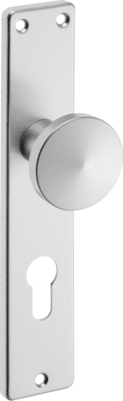 Knopf-Langschild Aluminium eckig