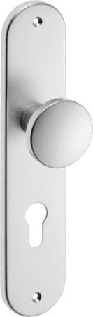 Knopf-Langschild Aluminium rund