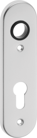 Kurzschild Aluminium rund