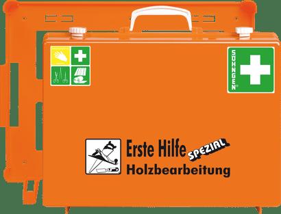 """Erste Hilfe Koffer Spezial """"Holzbearbeitung"""""""