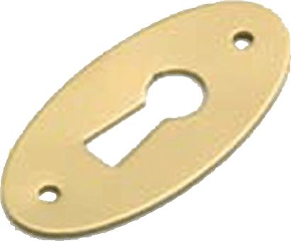 Schlüsselschild Messing