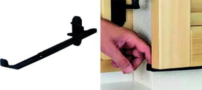 Komfortladenhalter mit Schrauben und Dübel