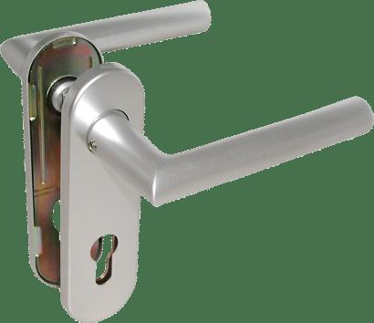 FS-Kurzschild-Drückergarnitur Aluminium Linie 50