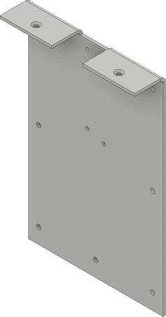 Montageplatte für Türdämpfer V1600 ohne Falz
