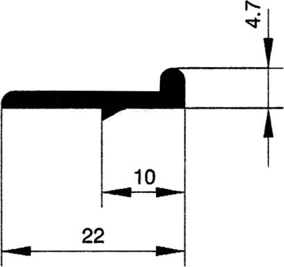 Türanschlagleiste 5 mm flach
