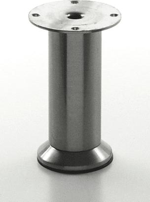 Möbelfuß Edelstahl finish, rund 35 mm verstellbar