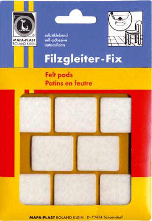 Filzgleiter FIX weiß quadratisch