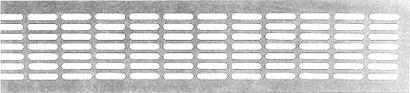 Lüftungsblech aus Aluminium - Breite 80 mm