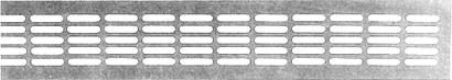 Lüftungsblech aus Aluminium - Breite 100 mm