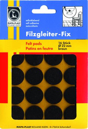 Filzgleiter FIX braun rund