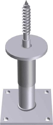 Stützenfuß verstellbar Typ 32HVN-ST