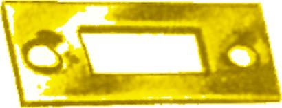 Schließblech für Profilriegel