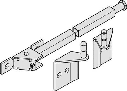 Schließfolgeregler für 2-flg. Türen