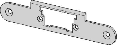 Schließblech zu Fluchttüröffner Modell 332