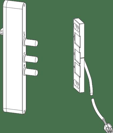 Stößelkontakt für Mehrfachverriegelung MFV3 Automatik
