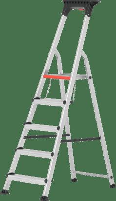 Alu-Stufenstehleiter mit Doppelstufe