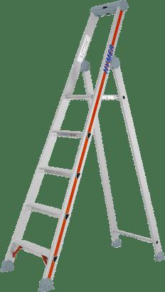 Stufenstehleiter Alu