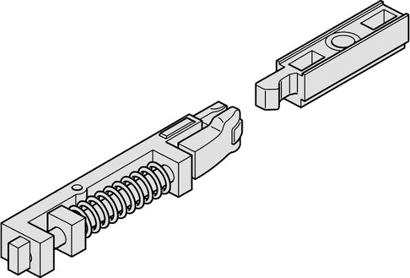 Rastfeststelleinheit für Gleitschiene Modell G96 N