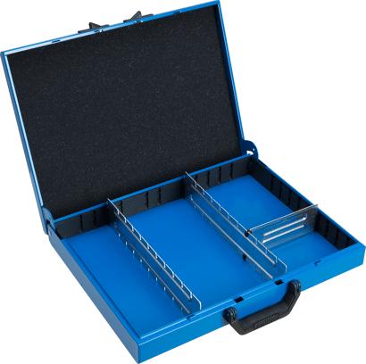 Metallkoffer Typ WM mit Trennblechen für Werkzeuge