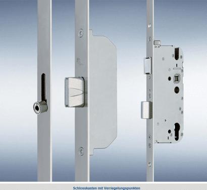 Secury Mehrfachverriegel. MR/R (2 Rollzapfen/2 Massivriegel)