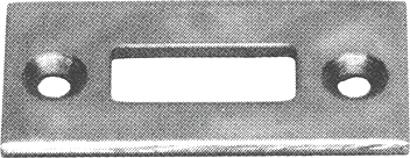 Schließblech für Riegel Edelstahl