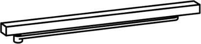 Gleitschiene 1-flg. Modell G-N