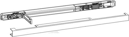 Gleitschiene 1-flg. Modell G-EMR