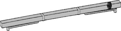 Gleitschiene 2-flg Modell GSR-EMF 1/V