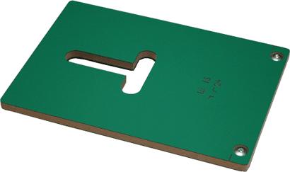 Frässchablone für Flachspanner