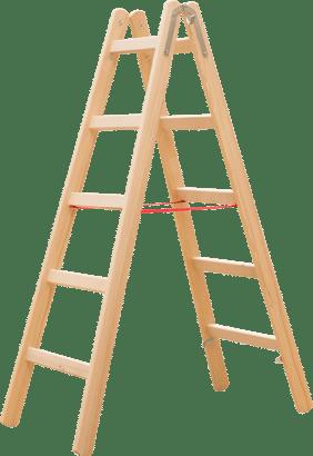 Holz-Sprossenstehleiter