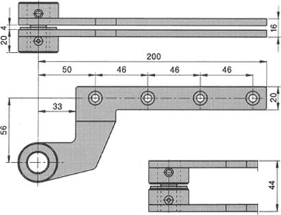 Zapfenband Nr. 7411 K für Bodentürschließer