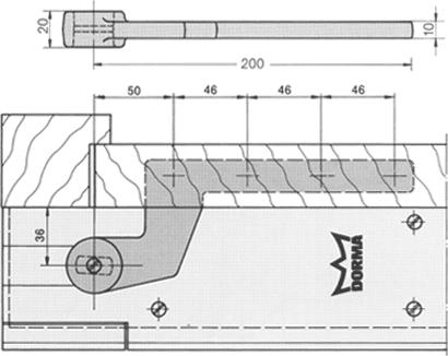 Zapfenband Nr. 7411 für Bodentürschließer