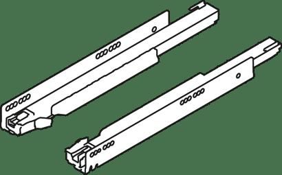 LEGRABOX Korpusschiene mit BLUMOTION 40 kg inkl. Kupplungen