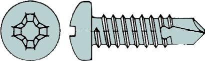 Bohrschrauben DIN 7504 N Linsenkopf