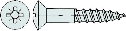 Holzschrauben DIN 7995 Linsensenkkopf