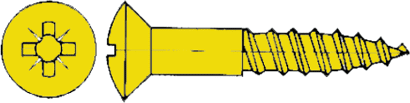 Holzschrauben DIN 7995 Linsensenkkopf messing blank