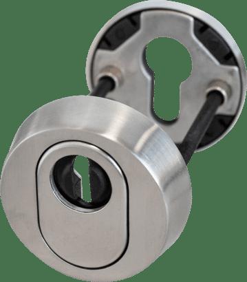Schutzrosette mit Zylinderabdeckung Edelstahl rund