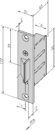 Einsteck-Fallenschloss zu Fluchttüröffner Modell 332