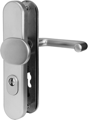 Schutz-Wechselgarnitur mit Zylinderabdeckung Aluminium Linie 10