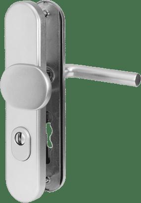 Schutz-Wechselgarnitur mit Zylinderabdeckung Aluminium Linie 50