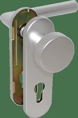FS-Kurzschild-Wechselgarnitur Aluminium Linie 50