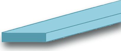 Flachprofil Aluminium blank