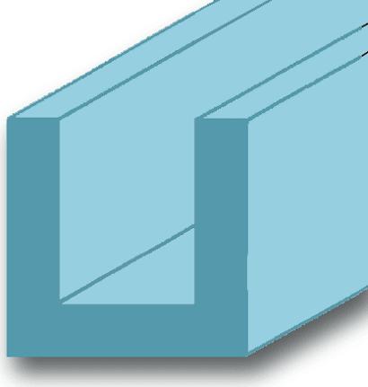 U-Profil Aluminium blank