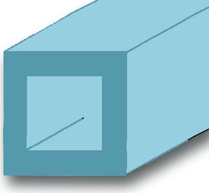 Vierkantrohr Aluminium blank