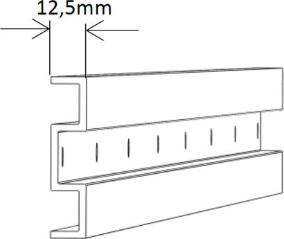 Distanzprofil-set für A60 Schiebetür-Set