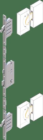 Mehrfachverriegelung MFV2 (2 Schwenkriegel) m. Panikfunktion