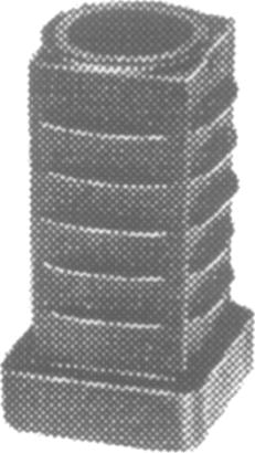 Kunststoff-Laufrollenhalter