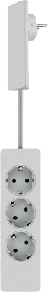 PlugFix mit 3-fach Steckdose extra flach