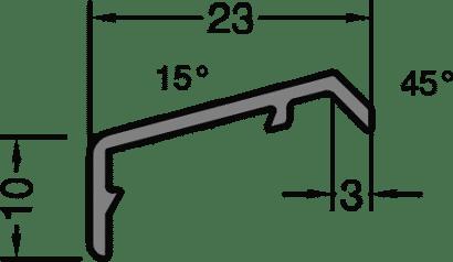 Flügelabdeckprofil FP 18