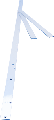 Montageplatten-Set für Gleitschiene 2-flg. Modell GSR